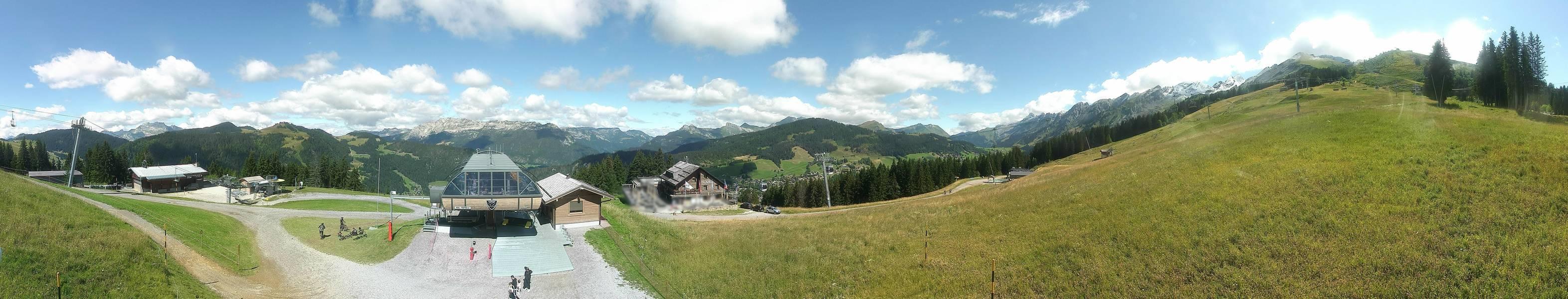 La Clusaz webcam - Cret du Loup snowpark